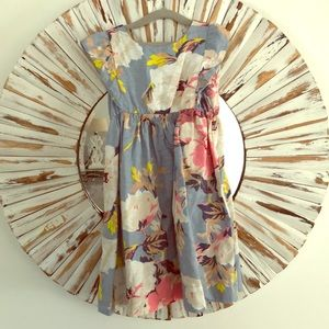 Gap linen floral dress 5t